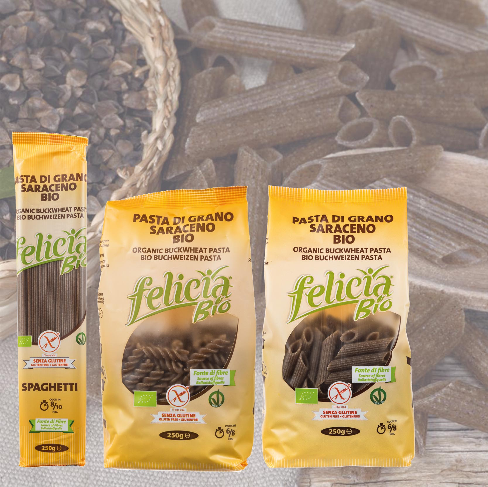 Buchweizen-Pasta von Felicia Bio