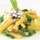 Gelbe Linsen Pasta Caserecce mit Kartoffeln und Rucola