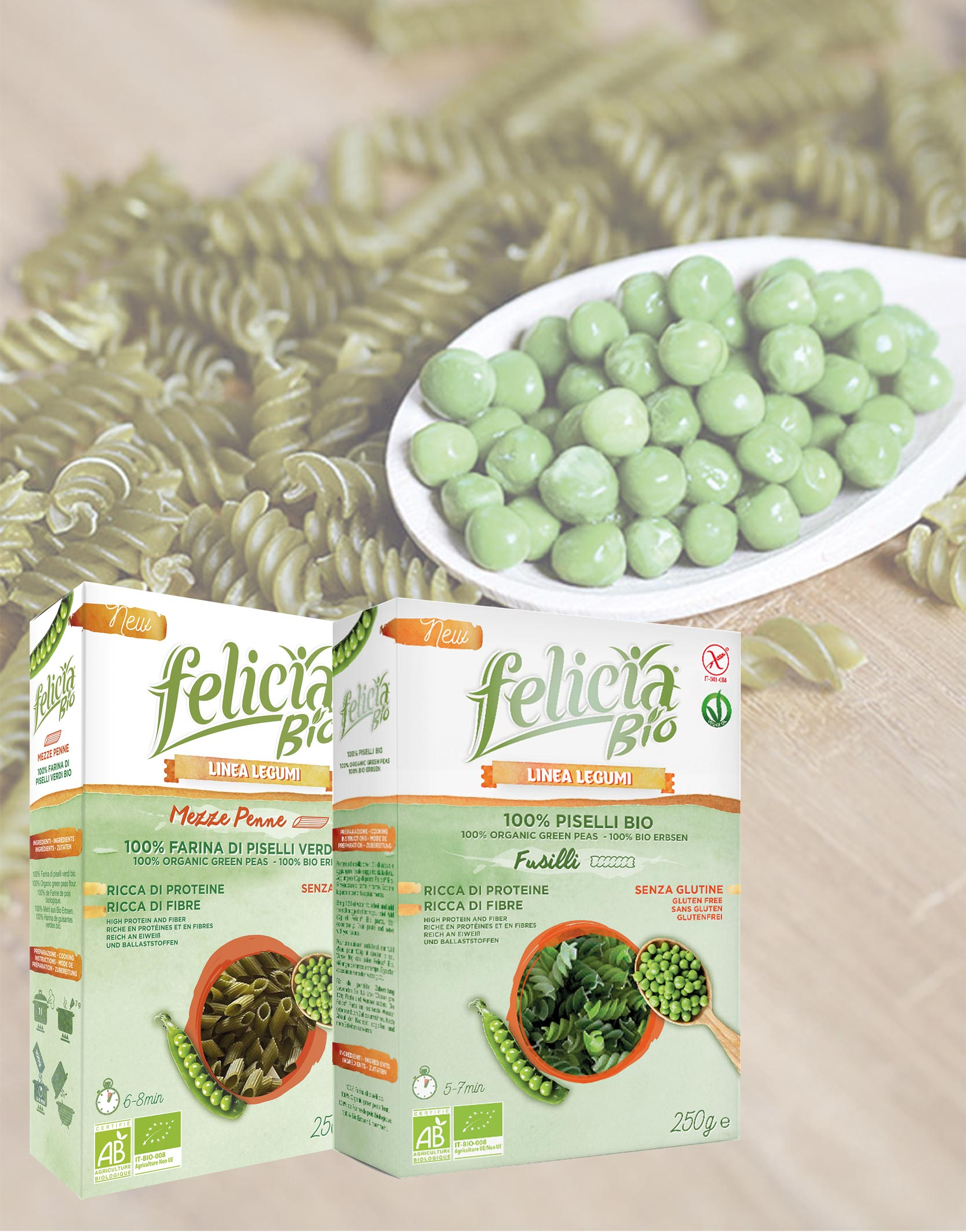 Grüne Erbsen-Pasta von Felicia Bio