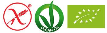 Label Felicia Bio - glutenfrei vegan bio