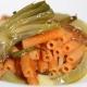 Rote-Linse-Sedanini mit Artischocken und Kartoffeln